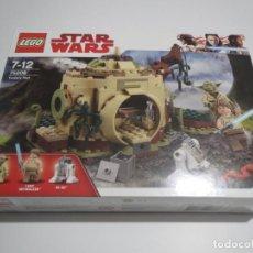 Juegos construcción - Lego: LEGO STAR WARS 75208 CABAÑA DE YODA USADO PERO EN PERFECTO ESTADO ( SIN FIGURA DE YODA ) YODA´S HUT. Lote 221960462