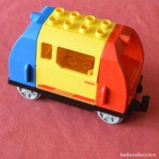 Juegos construcción - Lego: VAGON DE TREN - AZUL - AMARILLO - ROJO - LEGO DUPLO. Lote 222348076