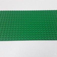 Juegos construcción - Lego: BASE VERDE PLANA . ORIGINAL DE LEGO . MEDIDA DE FRENTE 25,5 CM FONDO 12,7 CM. Lote 222466853