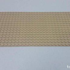 Juegos construcción - Lego: BASE MARRON CLARO . ORIGINAL DE LEGO . MEDIDA DE FRENTE 25,5 CM FONDO 12,7 CM. Lote 222466980