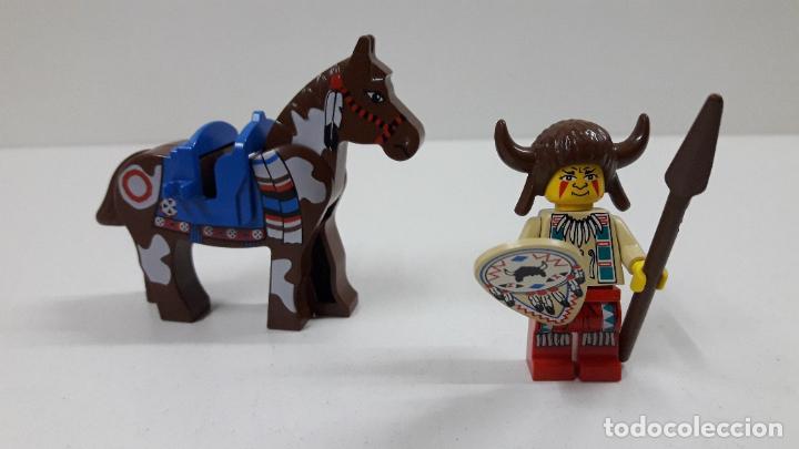 Juegos construcción - Lego: JEFE INDIO CON LANZA Y ESCUDO A CABALLO . ORIGINAL DE LEGO - Foto 5 - 222646130
