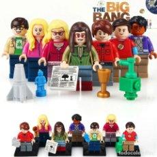 Juegos construcción - Lego: THE BIG BANG THEORY LOTE DE 7 MINIFIGURAS Y REGALO GEMELOS LENTE CAMARA. Lote 277175403