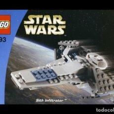 Juegos construcción - Lego: LEGO STAR WARS MANUAL INSTRUCCIONES SET 4493 SITH INFILTRATOR - MINI. Lote 229401225