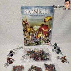 Juegos construcción - Lego: PIEZAS LEGO BIONICLE REF: 8759 (4 BOLSAS NUEVAS SIN ABRIR + MANUAL + 6 FIGURAS). Lote 232400015