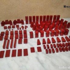 Juegos construcción - Lego: 201 PIEZAS LEGO ROJO OSCURO VARIOS TAMAÑOS (325 GRAMOS APROXIMADAMENTE). Lote 232427540