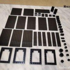 Juegos construcción - Lego: 110 PIEZAS LEGO NEGRO - NEGRAS DE VARIOS TAMAÑOS (250 GRAMOS APROXIMADAMENTE). Lote 232456820