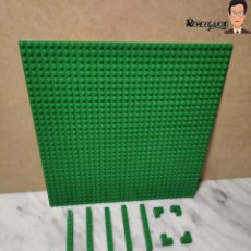 Juegos construcción - Lego: 17 PIEZAS LEGO VERDE OSCURO DE VARIOS TAMAÑOS (190 GRAMOS APROXIMADAMENTE). Lote 232465375