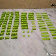 Juegos construcción - Lego: 93 PIEZAS LEGO VERDE CLARO (PISTACHO) DE VARIOS TAMAÑOS (80 GRAMOS APROXIMADAMENTE). Lote 232468615