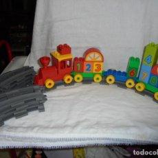 Juegos construcción - Lego: TREN LEGO DUPLO LAS VIAS FORMAN UN CIRCULO,LO QUE SE VE EN LAS FOTOS. Lote 232730980