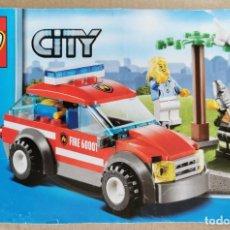 Juegos construcción - Lego: LEGO CITY 60001 COCHE DEL JEFE DE BOMBEROS COMO NUEVO.. Lote 233923145