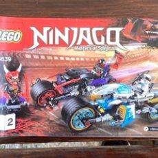 Juegos construcción - Lego: LEGO NINJAGO, MASTERS OF SPINJITSU REF 70639 CATALOGO INSTRUCCIONES ORIGINAL. Lote 235098535