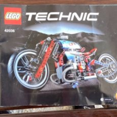 Juegos construcción - Lego: LEGO TECHNIC MOTO REF 42036 CATALOGO INSTRUCCIONES N2 ORIGINAL. Lote 235098875