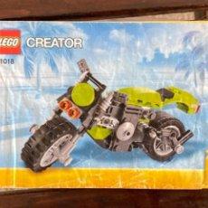 Juegos construcción - Lego: LEGO CREATOR MOTO REF 31018 CATALOGO INSTRUCCIONES ORIGINAL. Lote 235099160