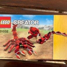 Juegos construcción - Lego: LEGO CREATOR REF 31032 CATALOGO INSTRUCCIONES ORIGINAL. Lote 235100875