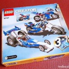 Juegos construcción - Lego: LEGO CREATOR RACE 6747 EN CAJA CON INSTRUCCIONES. Lote 235423970