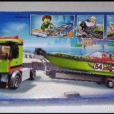 Juegos construcción - Lego: LEGO CITY 60254,CAMIÓN DE TRANSPORTE DE LANCHA DE CARRERAS. NUEVO Y PRECINTADO EN SU CAJA ORIGINAL.. Lote 236251870