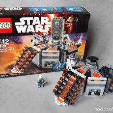 Juegos construcción - Lego: LEGO STAR WARS REF 75137 CARBON FREEZING CON MINIFUGURA DE BOBA FETT E INSTRUCCIONES. Lote 236763625
