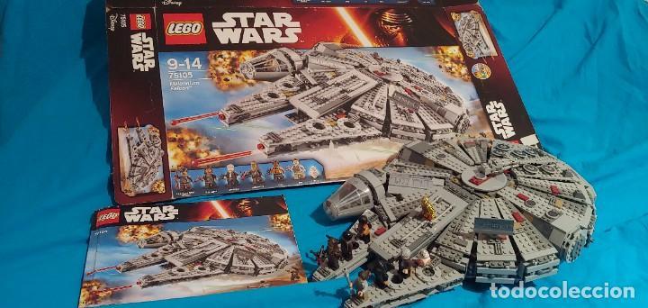 LEGO STAR WARS REF. 75105 HALCON MILENARIO-MILLENNIUN FALCON.CAJA-INSTRUCIONES-MUÑECOS (Juguetes - Construcción - Lego)
