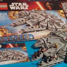 Juegos construcción - Lego: LEGO STAR WARS REF. 75105 HALCON MILENARIO-MILLENNIUN FALCON.CAJA-INSTRUCIONES-MUÑECOS. Lote 237021030