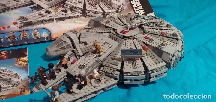Juegos construcción - Lego: LEGO STAR WARS REF. 75105 HALCON MILENARIO-MILLENNIUN FALCON.CAJA-INSTRUCIONES-MUÑECOS - Foto 2 - 237021030