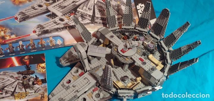 Juegos construcción - Lego: LEGO STAR WARS REF. 75105 HALCON MILENARIO-MILLENNIUN FALCON.CAJA-INSTRUCIONES-MUÑECOS - Foto 3 - 237021030