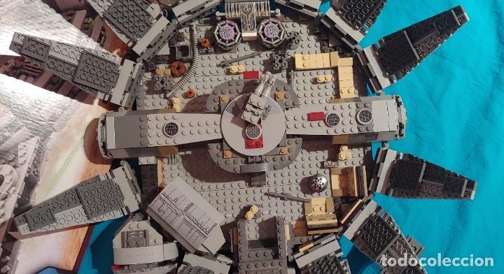Juegos construcción - Lego: LEGO STAR WARS REF. 75105 HALCON MILENARIO-MILLENNIUN FALCON.CAJA-INSTRUCIONES-MUÑECOS - Foto 4 - 237021030