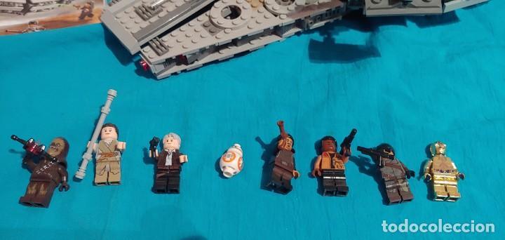 Juegos construcción - Lego: LEGO STAR WARS REF. 75105 HALCON MILENARIO-MILLENNIUN FALCON.CAJA-INSTRUCIONES-MUÑECOS - Foto 5 - 237021030