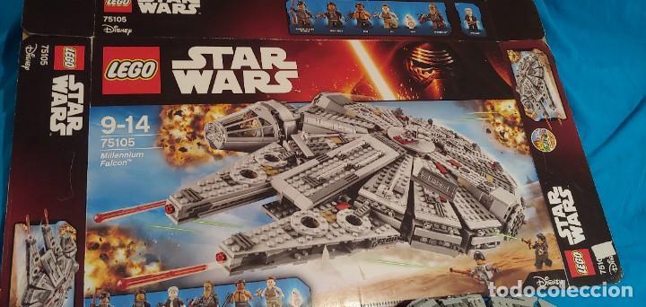 Juegos construcción - Lego: LEGO STAR WARS REF. 75105 HALCON MILENARIO-MILLENNIUN FALCON.CAJA-INSTRUCIONES-MUÑECOS - Foto 6 - 237021030