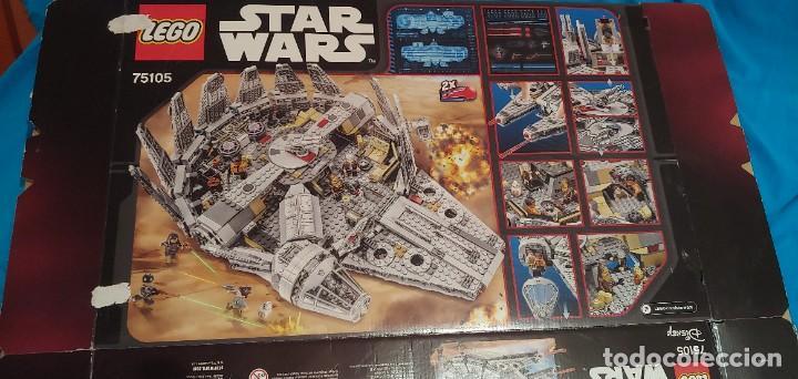 Juegos construcción - Lego: LEGO STAR WARS REF. 75105 HALCON MILENARIO-MILLENNIUN FALCON.CAJA-INSTRUCIONES-MUÑECOS - Foto 7 - 237021030