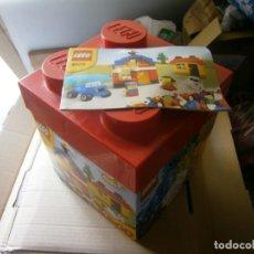 Juegos construcción - Lego: CAJA VINTAGE LEGO REF 4628 CON INSTRUCCIONES Y GRAN LOTE LEGO DE TODO TIPO. Lote 237399525