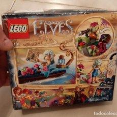 Juegos construcción - Lego: CAJA LEGO ELVES 41181 ELFOS NAIDA GONDOLA BARCA Y EL DUENDE LADRON NUEVO. Lote 237563615