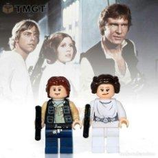 Juegos construcción - Lego: HAN SOLO Y PRINCESA LEIA MINIFIGURAS Y LLAVERO SON. Lote 271502728