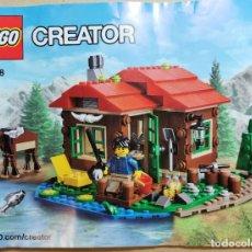 Juegos construcción - Lego: LEGO 31048 CREATOR SET CABAÑA JUNTO AL LAGO DESCATALOGADO 2016. Lote 237784310