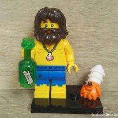 Juegos construcción - Lego: MINIFIGURAS LEGO SERIE 21 NAÚFRAGO. Lote 260818755