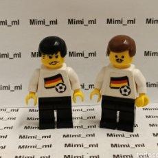 Juegos construcción - Lego: LEGO 2 FUTBOLISTAS PRIMERA ÉPOCA FIGURAS ANTIGUAS. Lote 239900825