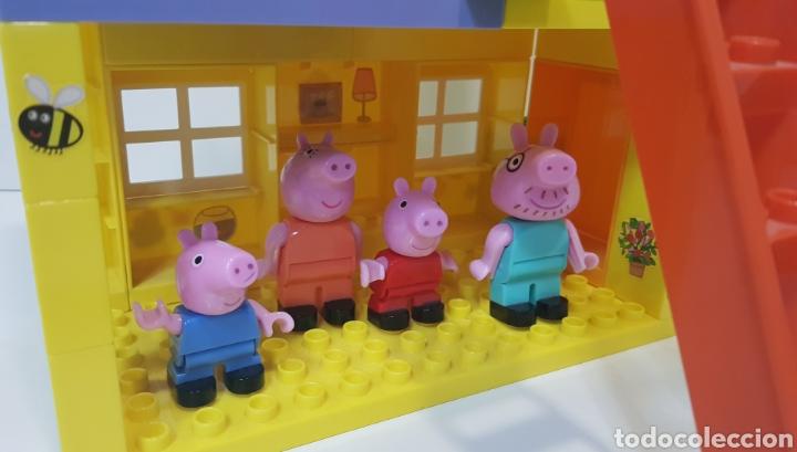 Juegos construcción - Lego: PEPPA PIG - CASA BLOQUES CONSTRUCCIÓN CON 4 FIGURAS / UNIGO - Foto 2 - 240378275