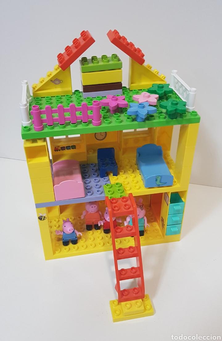 Juegos construcción - Lego: PEPPA PIG - CASA BLOQUES CONSTRUCCIÓN CON 4 FIGURAS / UNIGO - Foto 3 - 240378275