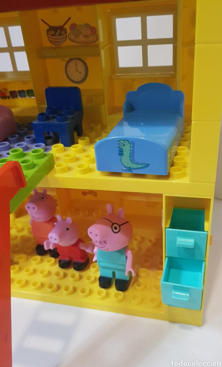 Juegos construcción - Lego: PEPPA PIG - CASA BLOQUES CONSTRUCCIÓN CON 4 FIGURAS / UNIGO - Foto 4 - 240378275