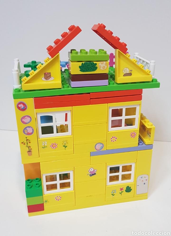 Juegos construcción - Lego: PEPPA PIG - CASA BLOQUES CONSTRUCCIÓN CON 4 FIGURAS / UNIGO - Foto 5 - 240378275