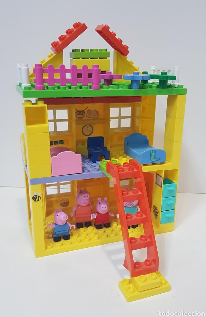 PEPPA PIG - CASA BLOQUES CONSTRUCCIÓN CON 4 FIGURAS / UNIGO (Juguetes - Construcción - Lego)