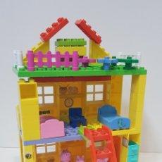 Juegos construcción - Lego: PEPPA PIG - CASA BLOQUES CONSTRUCCIÓN CON 4 FIGURAS / UNIGO. Lote 240378275