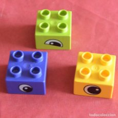 Jeux construction - Lego: 3 BLOQUES - 2 X 2 - CON OJOS - LEGO DUPLO. Lote 241959510