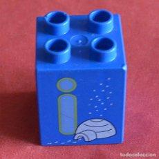 Jeux construction - Lego: BLOQUE - 2 X 2 X 2 - AZUL CON LETRA I IGLU - LEGO DUPLO. Lote 241961965