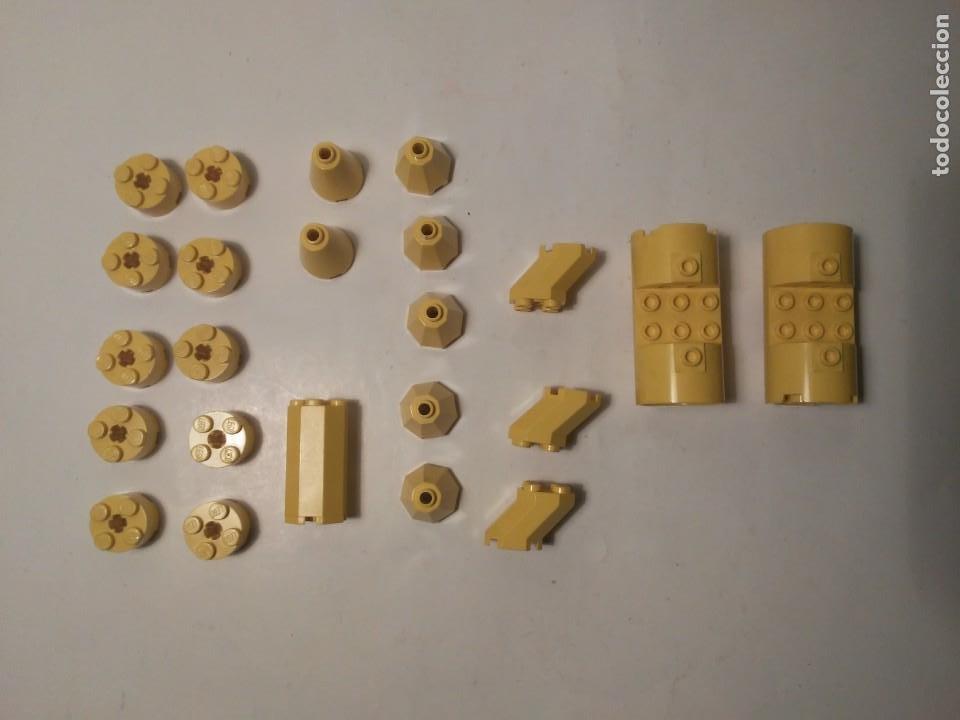 LOTE PIEZAS REDONDAS AMARILLAS RESTOS DE NAVE COHETE LEGO PIEZAS SUELTAS (Juguetes - Construcción - Lego)