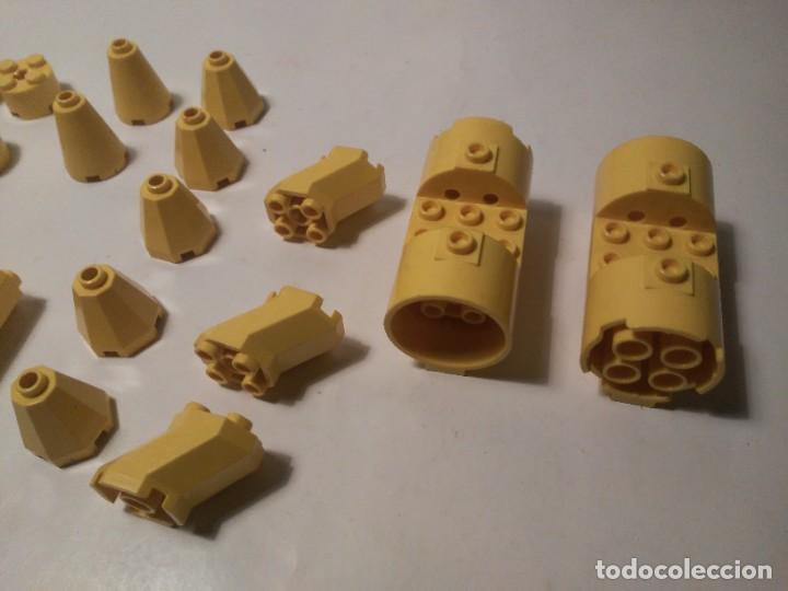 Juegos construcción - Lego: Lote piezas redondas amarillas restos de nave cohete Lego piezas sueltas - Foto 3 - 242193055