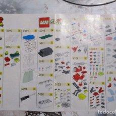 Juegos construcción - Lego: FOLLETO DE NUMERACION DE PIEZAS DE LEGO 1966. Lote 243299260