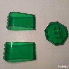 Juegos construcción - Lego: 3 VENTANAS VERDES TRANSPARENTES CÚPULA LUCERNARIO RESTOS DE NAVE LEGO PIEZAS SUELTAS. Lote 243583475