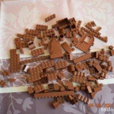 Juegos construcción - Lego: PIEZAS LEGO MARRÓN , USADAS EN BUEN ESTADO. Lote 243843525