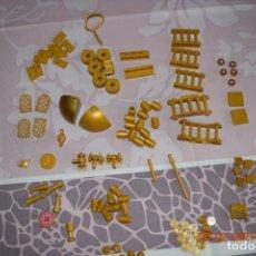 Juegos construcción - Lego: PIEZAS VARIADAS LEGO, DORADAS. Lote 244486355