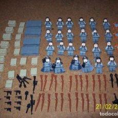 Juegos construcción - Lego: MEGA LOTE 61 FIGURAS EJERCITO ALEMAN+USA WWII & MODERN WARFARE COMPATIBLE LEGO. Lote 244662160